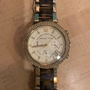 Gorgeous Gold and Tortoise Micheal Kors Watch